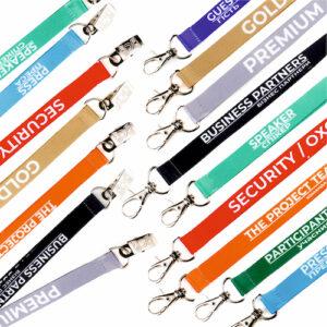 шнурки для бейджей с готовым дизайном